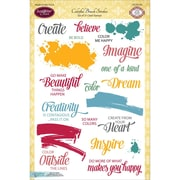 "Justrite Papercraft® 6"" x 8"" Clear Stamp Set, Colorful Brush Strokes"