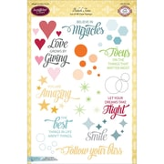 "Justrite Papercraft® 6"" x 8"" Clear Stamp Set, Bokeh Time"
