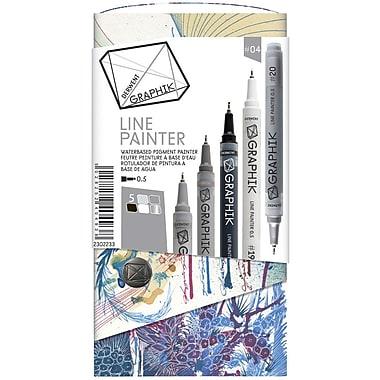 Reeves™ Graphik Palette #4 Line Painter Set, Multicolor, 5/Pack