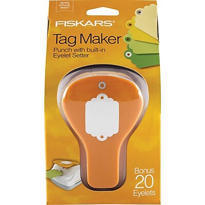 Fiskars® Tag Maker Punch, Scallop, 4.1