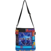 "Laurel Burch® 13"" x 14"" Crossbody Tote, Whiskered Cats"