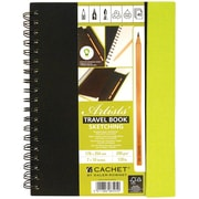 "Darice® Cachet® Travel Sketch Book With Pencil, 7"" x 10"", Assorted"