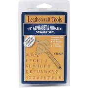 "Realeather Crafts™ 1/4"" Alphabet/Number Stamp Set"