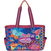 "Laurel Burch® 15"" x 4"" x 10"" Medium Tote, Cats With Butterflies"