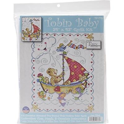 Tobin Quilt Stamped Cross Stitch Kit, 34