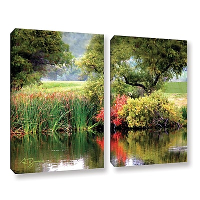 ArtWall Santee Lakes by George Zucconi 2 Piece Photographic Print on Wrapped Canvas Set