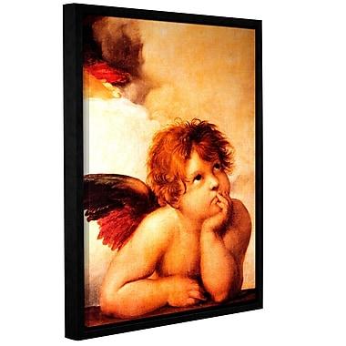 ArtWall Cherub by Raphael Framed Painting Print on Wrapped Canvas; 14'' H x 18'' W