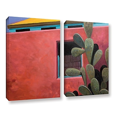 ArtWall Adobe Color by Rick Kersten 2 Piece Painting Print on Wrapped Canvas Set
