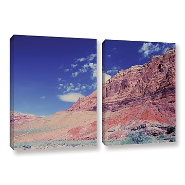 ArtWall Utah-Paria Canyon by Dan Wilson 2 Piece Photographic Print on Wrapped Canvas Set