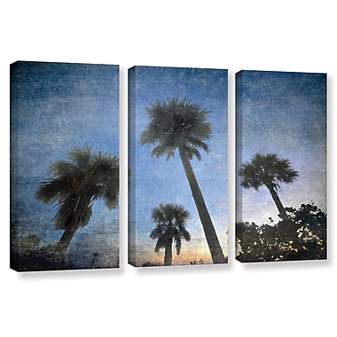ArtWall Palms At Sunset by Antonio Raggio 3 Piece Graphic Art on Wrapped Canvas Set