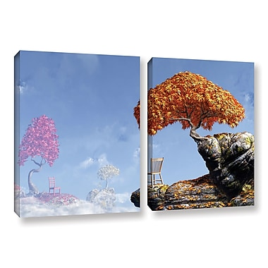ArtWall Leaf Peepers by Cynthia Decker 2 Piece Graphic Art on Wrapped Canvas Set