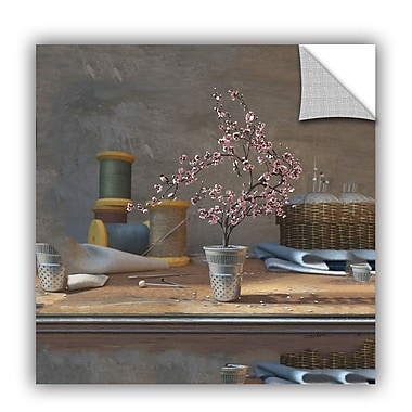 ArtWall Sew Tiny by Cynthia Decker Art Appeelz Removable Wall Mural; 36'' H x 36'' W