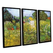 Marguerite Gachet in the Garden by Vincent Van Gogh 3 Piece Framed Painting Print on Canvas Set