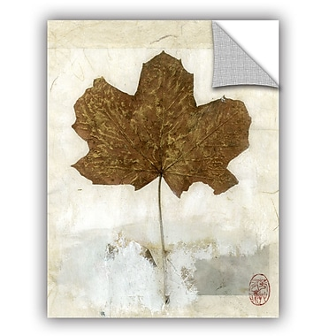 ArtWall Golden Leaf by Elena Ray Art Appeelz Removable Wall Mural; 18'' H x 14'' W x 0.1'' D