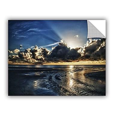 ArtWall Atlantic Sunrise by Dan Wilson Art Appeelz Removable Wall Mural; 18'' H x 24'' W