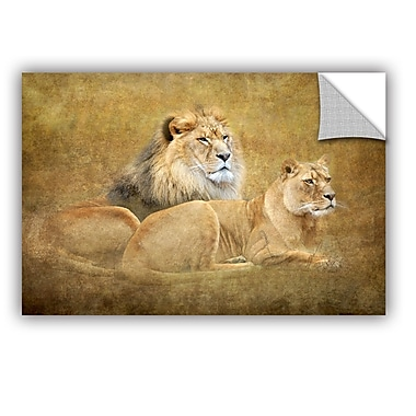 ArtWall Lions by Antonio Raggio Art Appeelz Removable Wall Mural; 12'' H x 18'' W x 0.1'' D