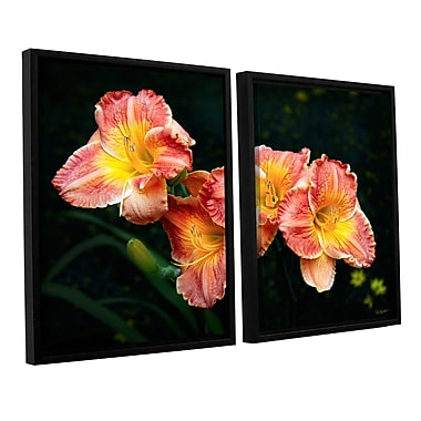 ArtWall Fresh Flowers by Antonio Raggio 2 Piece Framed Photographic Print on Canvas Set