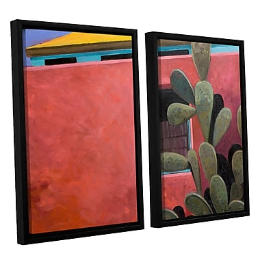 ArtWall Adobe Color by Rick Kersten 2 Piece Framed Painting Print on Canvas Set