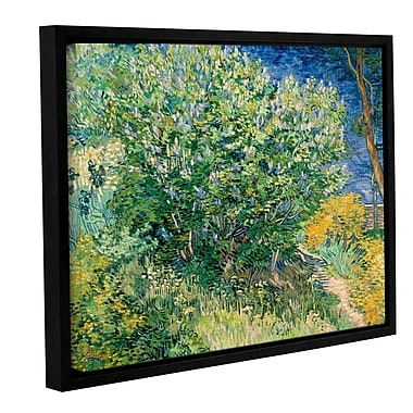 ArtWall Lilacs by Vincent Van Gogh Framed Painting Print on Wrapped Canvas; 24'' H x 32'' W