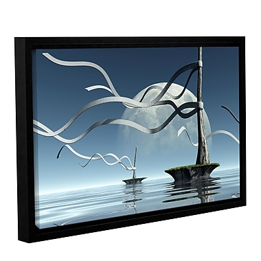 ArtWall Ribbons by Cynthia Decker Framed Graphic Art on Wrapped Canvas; 32'' H x 48'' W