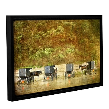 ArtWall Carriages by Antonio Raggio Framed Painting Print on Wrapped Canvas; 24'' H x 36'' W