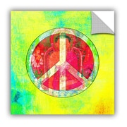 ArtWall Peace Sign by Elena Ray Art Appeelz Removable Wall Mural; 18'' H x 18'' W x 0.1'' D