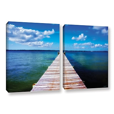 ArtWall Empty Pier by Antonio Raggio 2 Piece Photographic Print on Wrapped Canvas Set