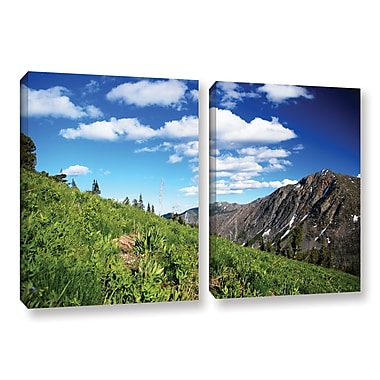 ArtWall Mountain Meadow by Dan Wilson 2 Piece Photographic Print on Wrapped Canvas Set
