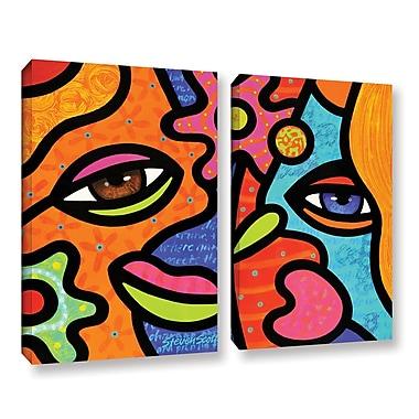 ArtWall ''Flower Market'' by Steven Scott 2 Piece Graphic Art on Wrapped Canvas Set