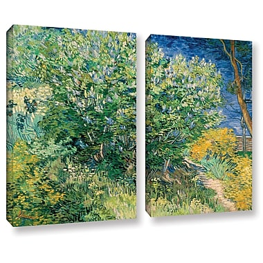 ArtWall Lilacs by Vincent Van Gogh 2 Piece Painting Print on Wrapped Canvas Set