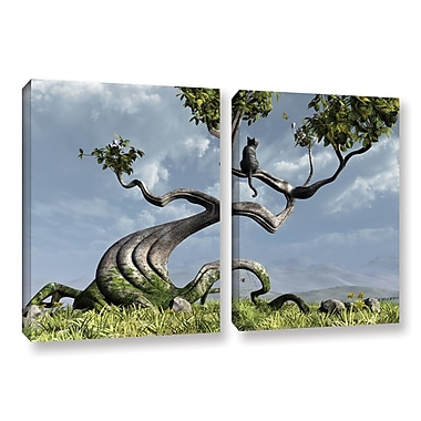 ArtWall Sitting Tree by Cynthia Decker 2 Piece Photographic Print on Wrapped Canvas Set