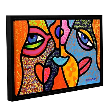 ArtWall Eye To Eye by Steven Scott Framed Graphic Art on Wrapped Canvas; 12'' H x 18'' W