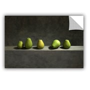ArtWall Five Pears by Cynthia Decker Art Appeelz Removable Wall Mural; 12'' H x 18'' W