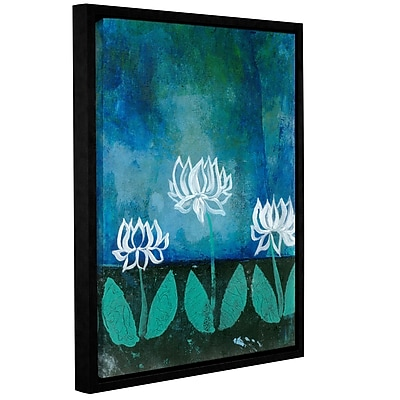 ArtWall Lotus Blossom by Elena Ray Framed Graphic Art on Wrapped Canvas; 48'' H x 36'' W
