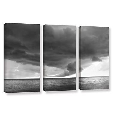 ArtWall Lake Erie Storm by Dan Wilson 3 Piece Photographic Print on Wrapped Canvas Set