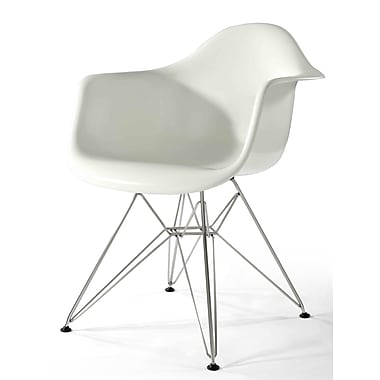 Aeon Furniture Sasha Arm Chair; White Gloss