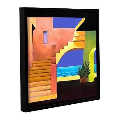 ArtWall Casa Del Mar by Rick Kersten Framed Painting Print on Wrapped Canvas; 14'' H x 14'' W