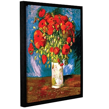 ArtWall Poppies by Vincent Van Gogh Framed Painting Print on Wrapped Canvas; 18'' H x 14'' W