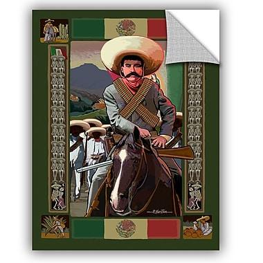 ArtWall Zapata by Rick Kersten Art Appeelz Removable Wall Mural; 48'' H x 36'' W x 0.1'' D