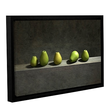 ArtWall Five Pears by Cynthia Decker Framed Graphic Art on Wrapped Canvas; 16'' H x 24'' W