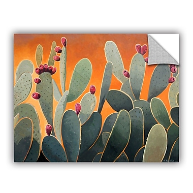 ArtWall Cactus Orange by Rick Kersten Art Appeelz Removable Wall Mural; 14'' H x 18'' W