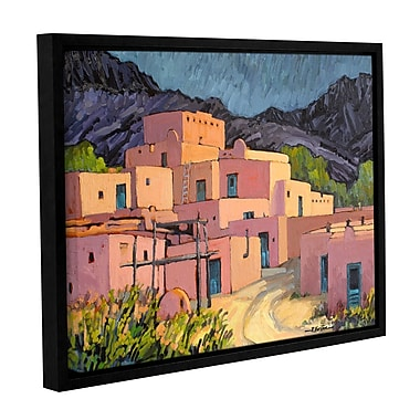 ArtWall Taos Pueblo by Rick Kersten Framed Painting Print on Wrapped Canvas; 24'' H x 32'' W