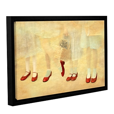 ArtWall Ruby Slippers by Antonio Raggio Framed Graphic Art on Wrapped Canvas; 24'' H x 36'' W