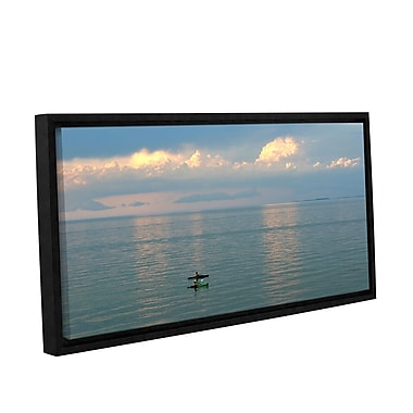 ArtWall Calm Kayaks by Antonio Raggio Framed Photographic Print on Wrapped Canvas; 18'' H x 36'' W