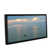 ArtWall Calm Kayaks by Antonio Raggio Framed Photographic Print on Wrapped Canvas; 24'' H x 48'' W