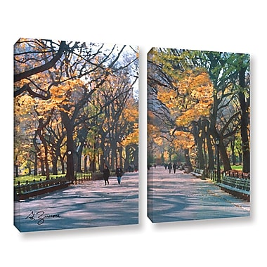 ArtWall Central Park by George Zucconi 2 Piece Painting Print on Wrapped Canvas Set