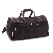 Le Donne Leather 22'' Voyager Travel Duffel; Cafe