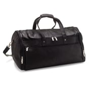 Le Donne Leather 22'' Voyager Travel Duffel; Black