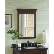 Ronbow Transitional 24'' x 33'' Solid Wood Framed Bathroom Mirror in Caf  Walnut