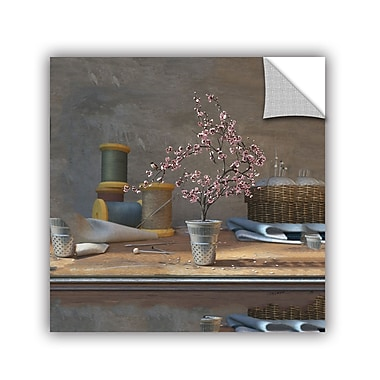 ArtWall Sew Tiny by Cynthia Decker Art Appeelz Removable Wall Mural; 32'' H x 48'' W x 2'' D
